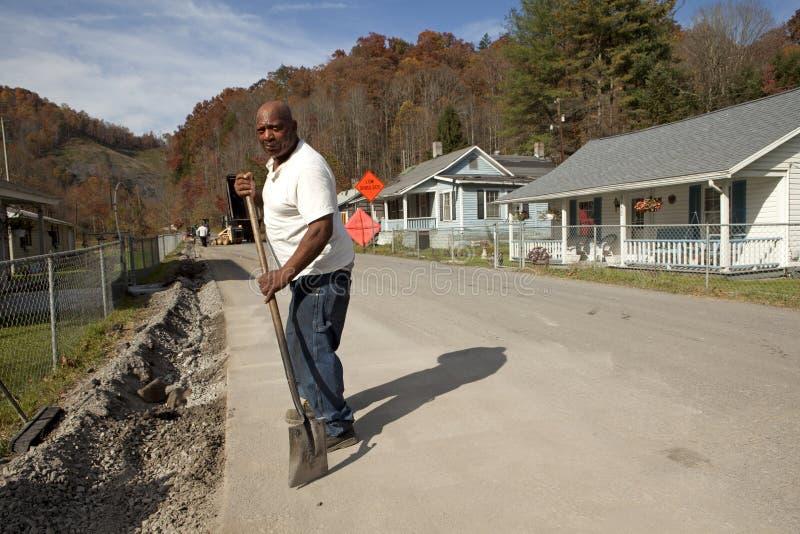Homme avec la pelle, Appalachia photo libre de droits