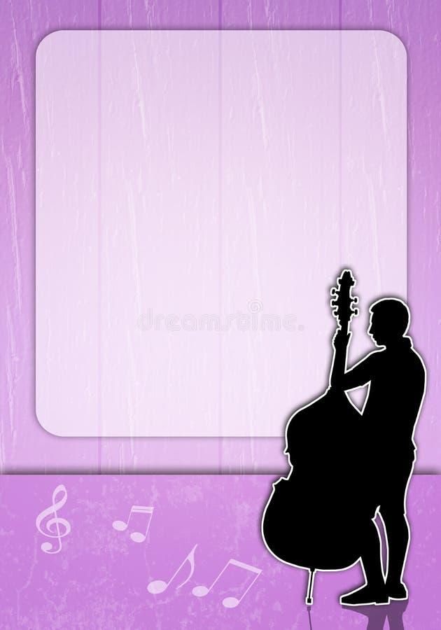 Homme avec la silhouette de violoncelle illustration libre de droits