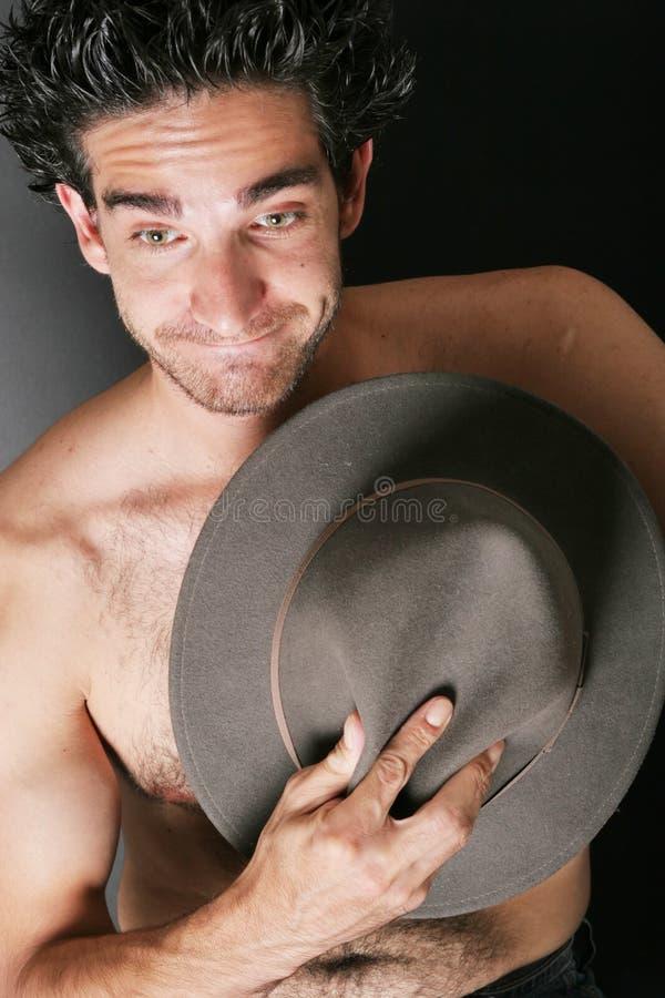 Homme avec le chapeau image libre de droits