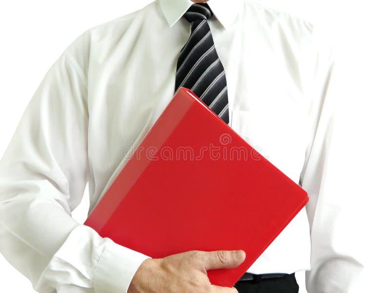 Homme avec le dépliant rouge images libres de droits
