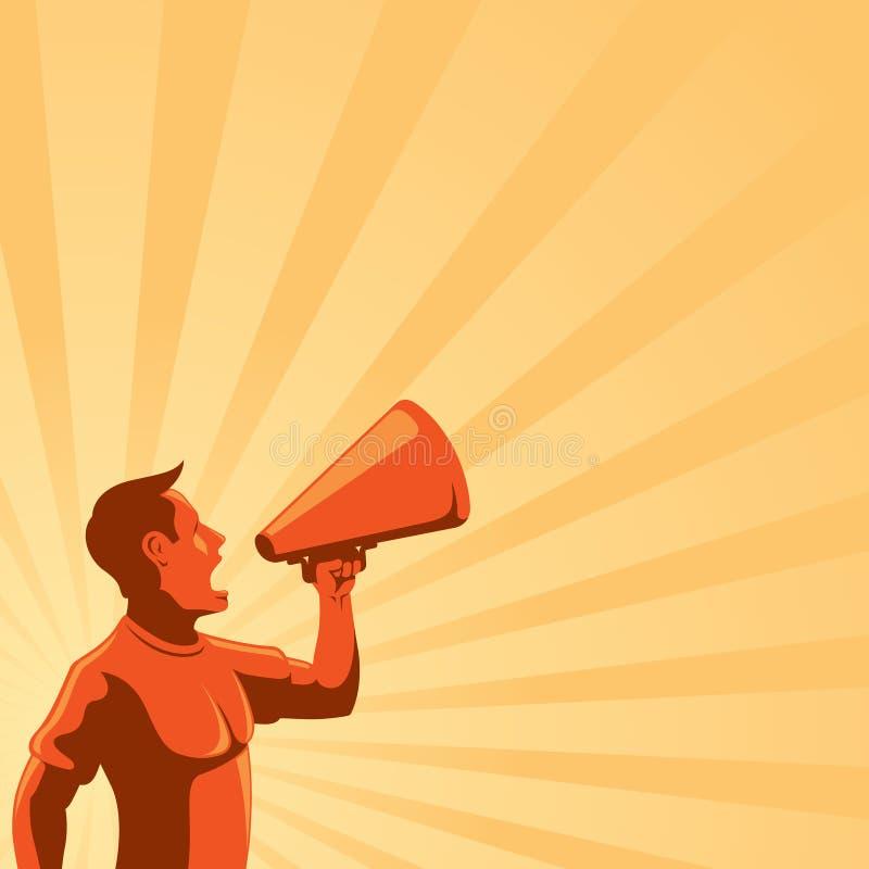Homme avec le haut-parleur illustration libre de droits