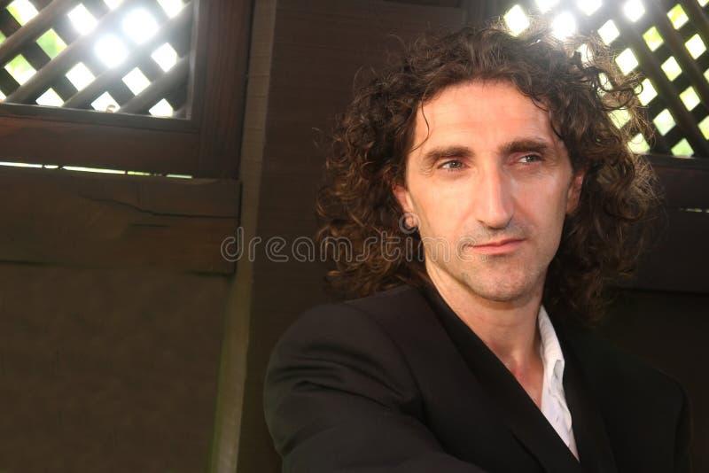 Homme avec le long cheveu images libres de droits
