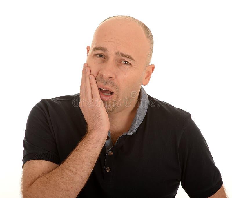 Homme avec le mal de dent photo libre de droits
