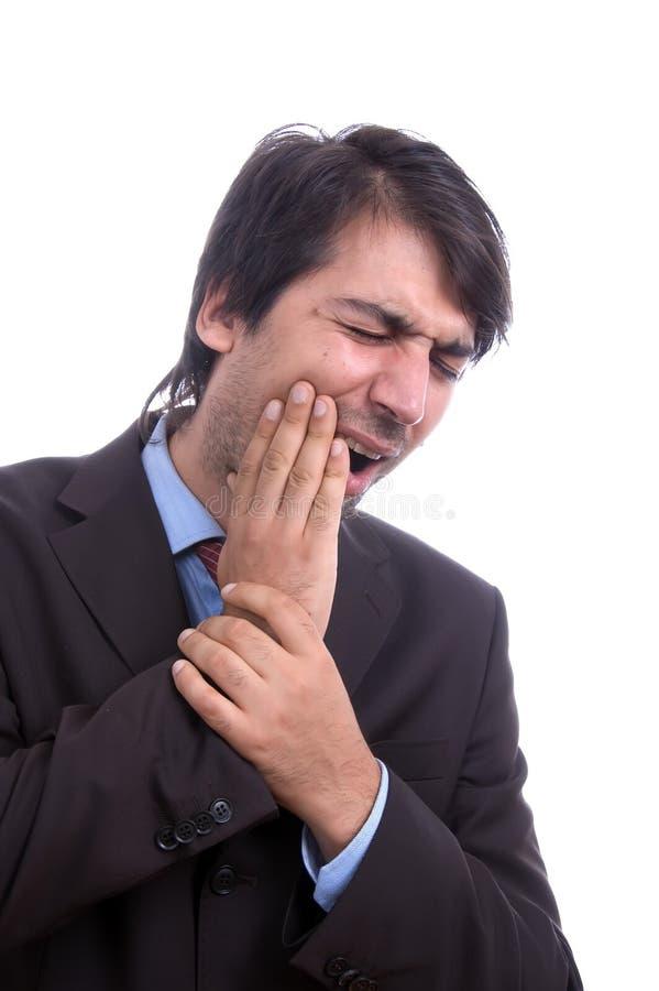 Homme avec le mal de dents photo libre de droits