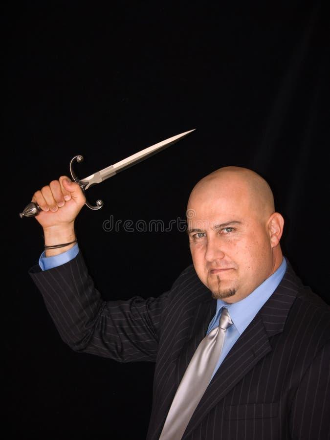 Homme avec le poignard image libre de droits