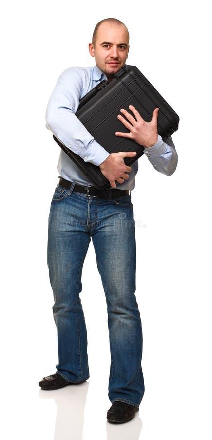 Homme avec le sac image libre de droits