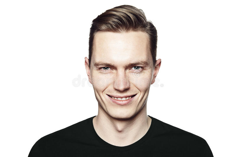 Homme avec le sourire ironique photographie stock