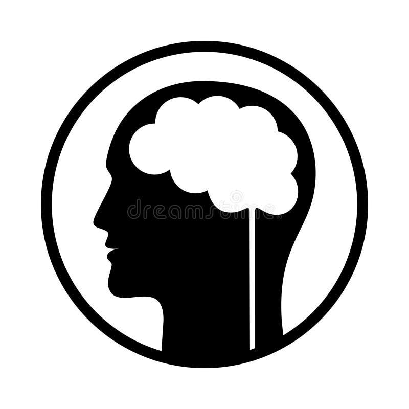 Homme avec le symbole abstrait de cerveau pour Infographic illustration de vecteur