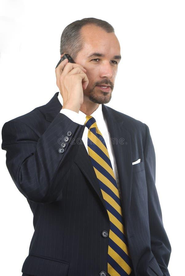 Homme avec le téléphone portable photo stock