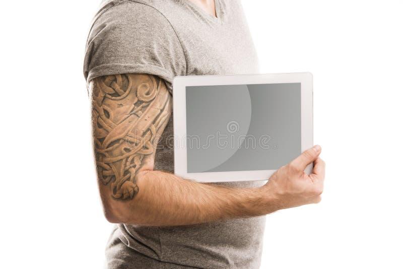 Homme avec le tatouage image libre de droits