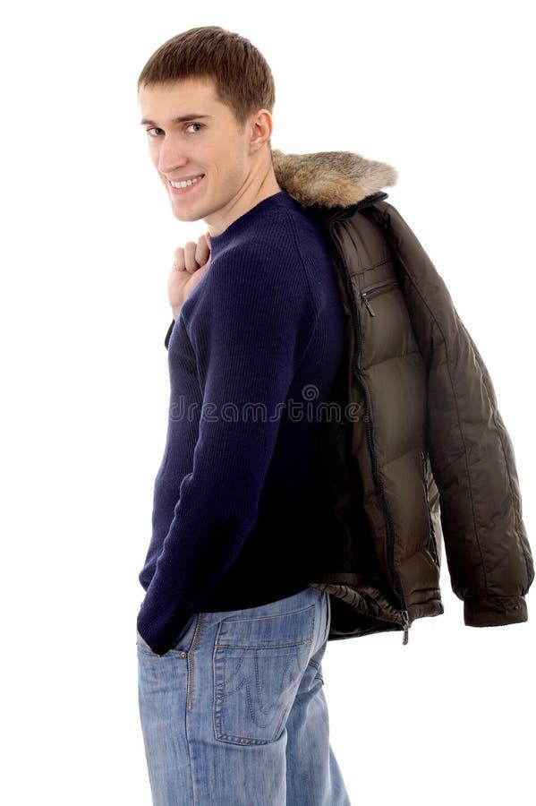 Homme avec le vêtement chaud images libres de droits