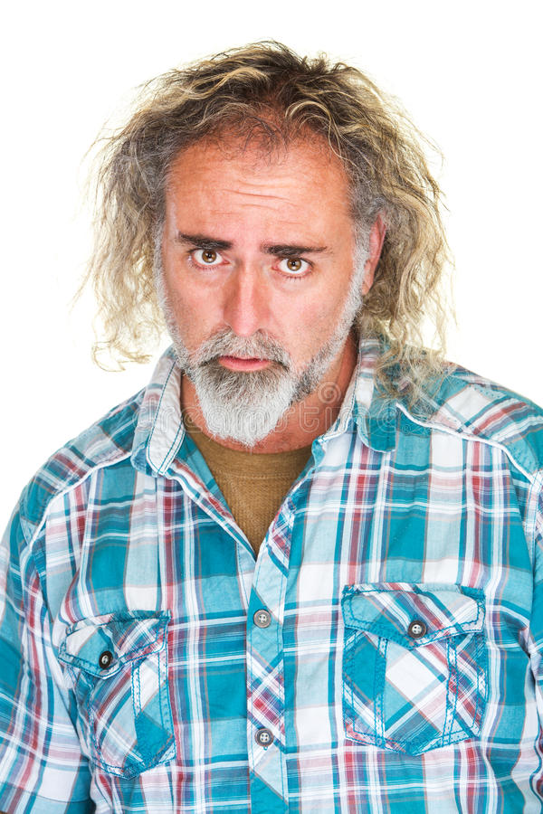 Homme avec le visage désolé photos libres de droits