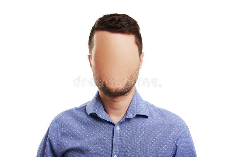 Homme avec le visage vide image stock