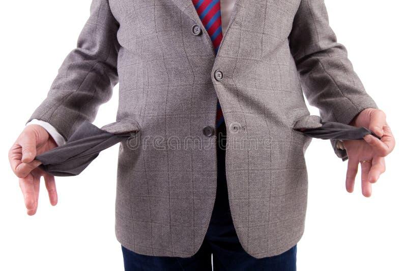 Homme avec les poches vides image libre de droits