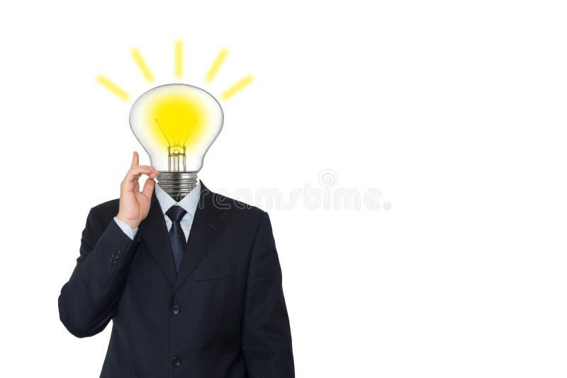 Homme avec une ampoule photos libres de droits