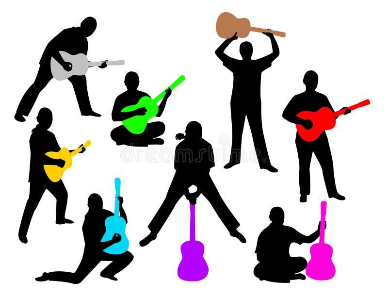 Homme avec une guitare illustration libre de droits