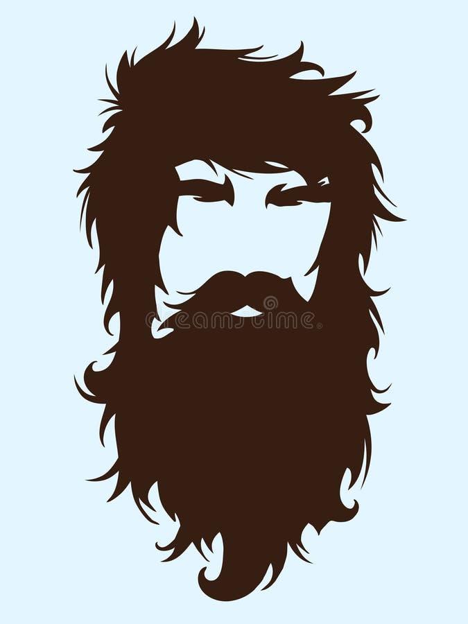 Homme barbu illustration libre de droits