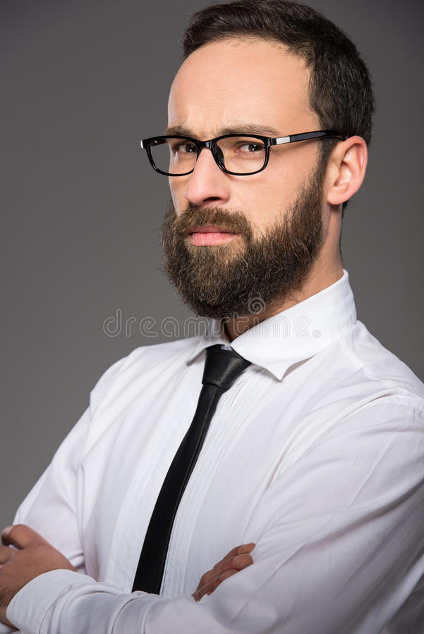 Homme barbu image stock