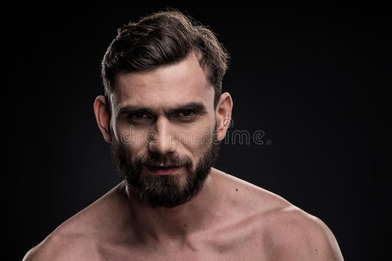 Homme barbu bel photographie stock