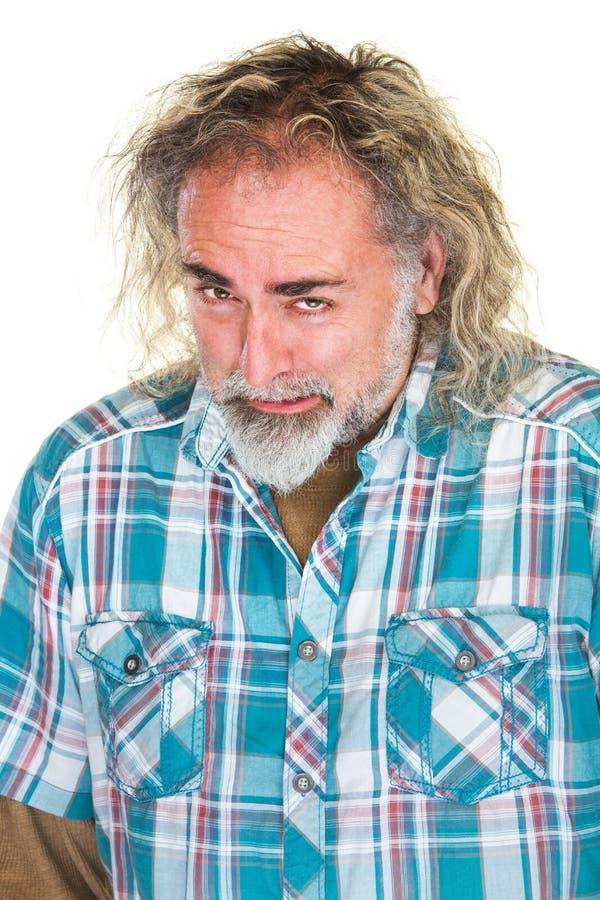 Homme barbu frustrant photos libres de droits