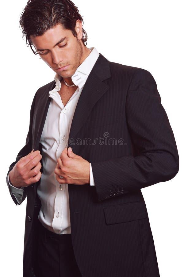 Homme beau et élégant photographie stock