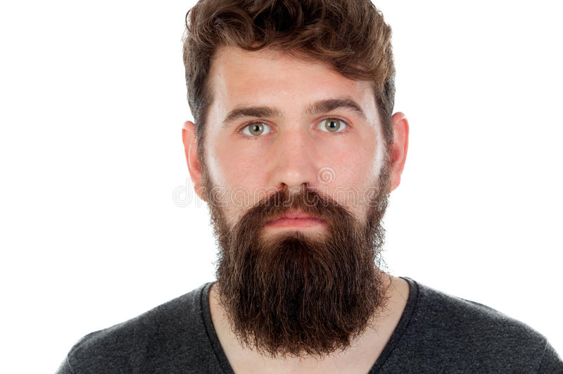 Homme bel avec la longue barbe photo stock