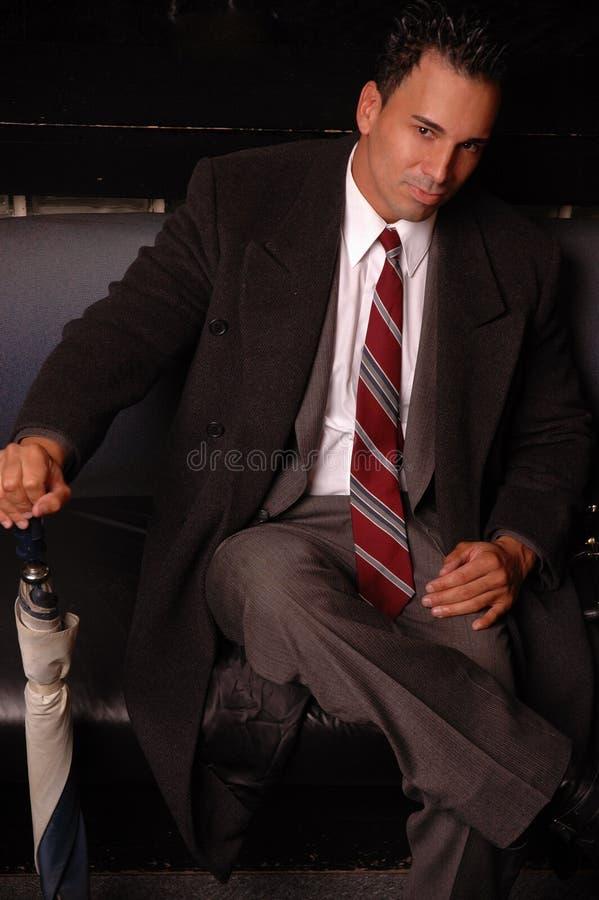 Homme bel d'affaires photo stock