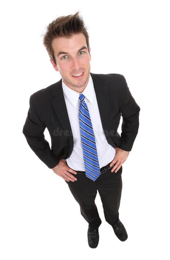 Homme bel d'affaires d'isolement image stock