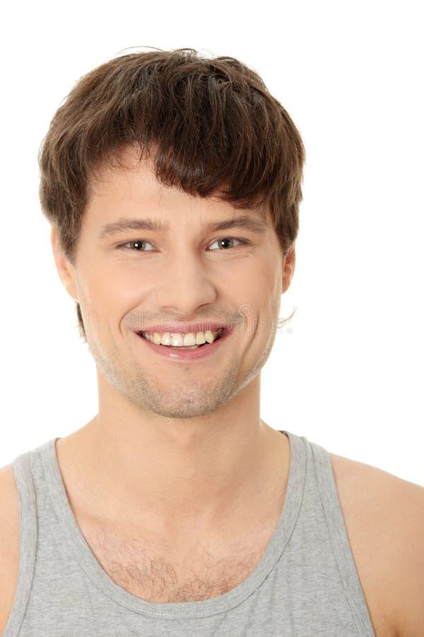 Homme bel de sourire images stock
