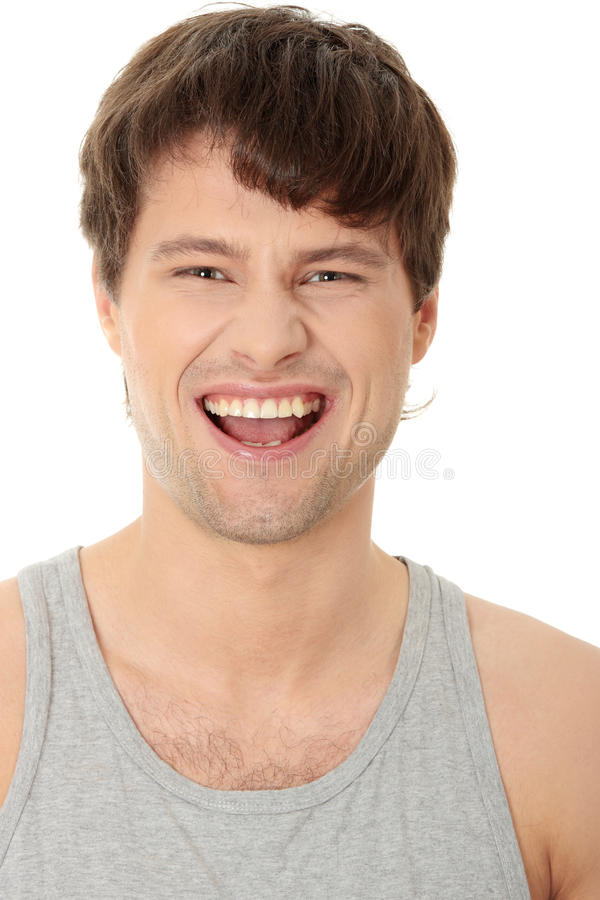 Homme bel de sourire image libre de droits