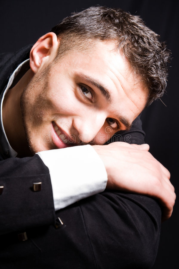 Homme bel de sourire photo libre de droits