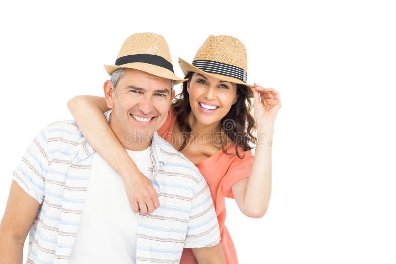 Homme bel ferroutant son épouse photos libres de droits