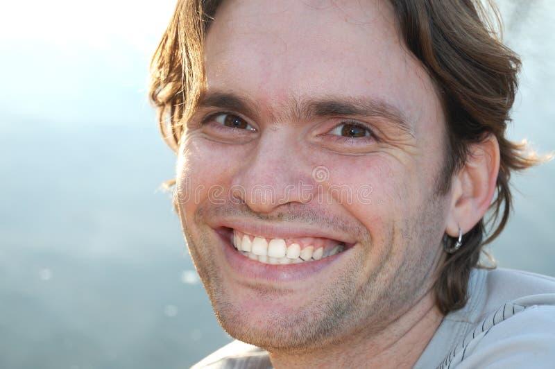 Homme bel heureux image libre de droits