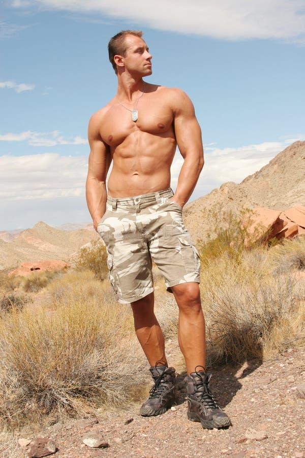 Homme bel sportif sexy - ABS de planche à laver photo libre de droits