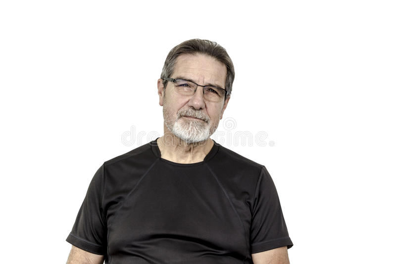 Homme bel supérieur en bonne santé images stock
