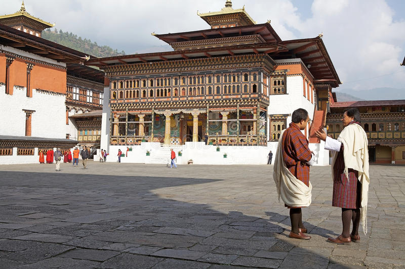 Homme bhoutanais dans l'habillement traditionnel, Thimphou, Bhutan photos stock