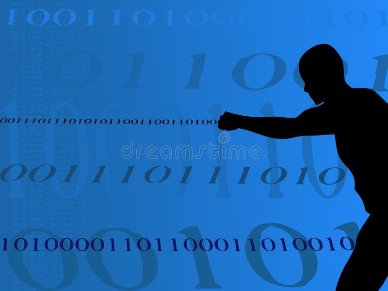 Homme binaire avec de l'argent illustration libre de droits