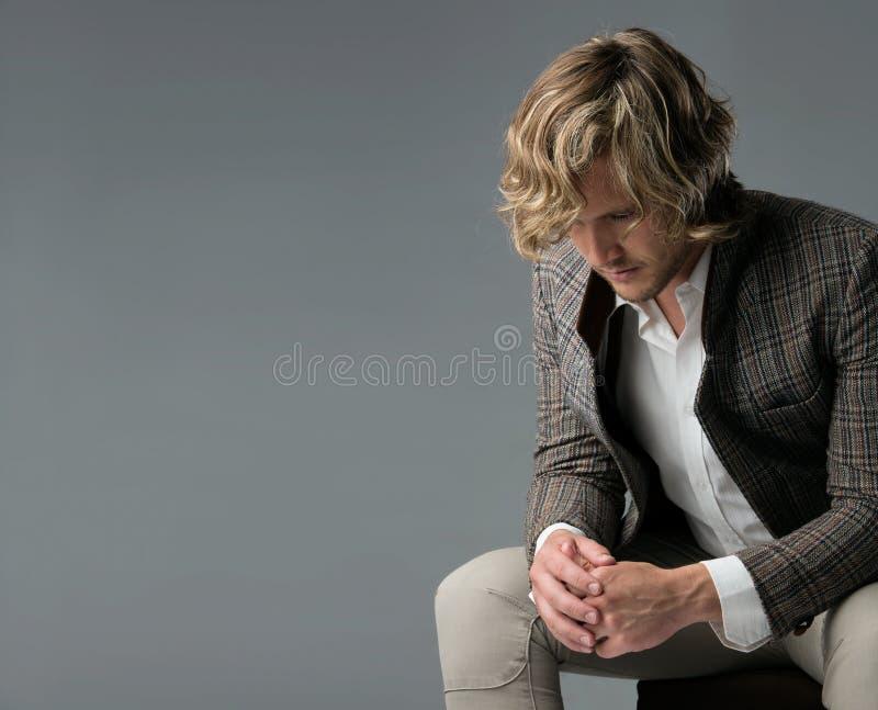 Homme caucasien bel photos stock
