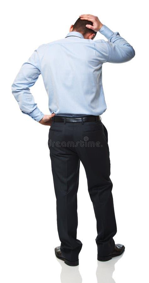 Homme chargé image stock