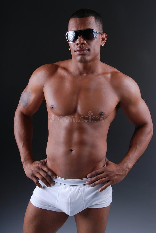 Homme chaud d'Afro-américain. images libres de droits