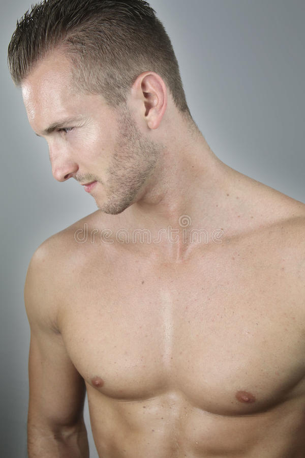 Homme chested nu bel photos stock