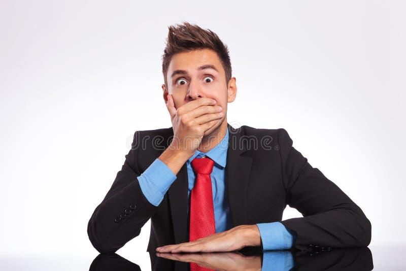 Homme choqué de bureau images libres de droits
