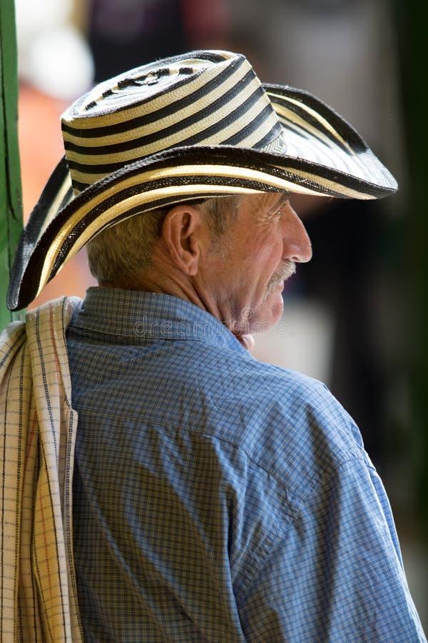 Homme colombien dans le sombrero image libre de droits