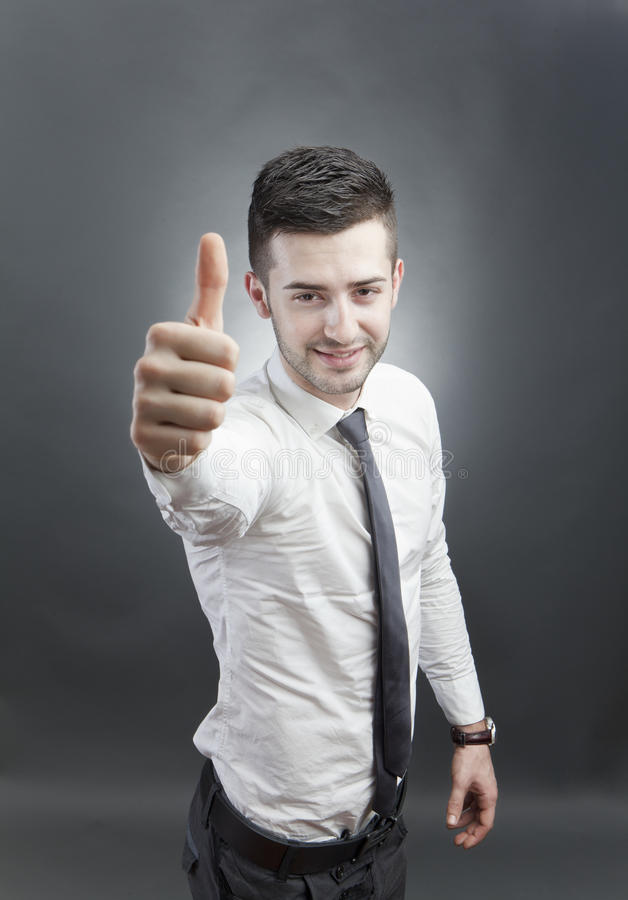 Homme confiant amical photographie stock