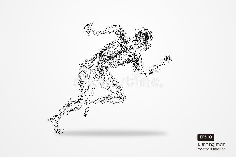Homme courant, composition divergente en particules, illustration de vecteur illustration libre de droits