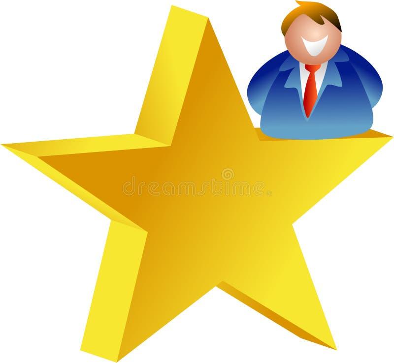 Homme d'étoile illustration libre de droits
