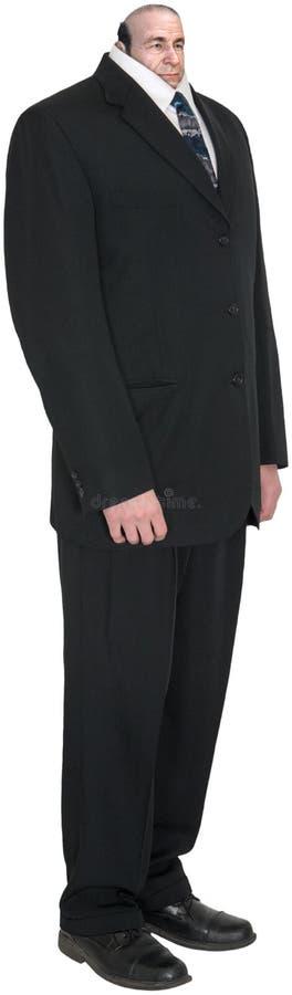 Homme d'affaire louche, homme d'affaires, chef d'isolement et petit images stock