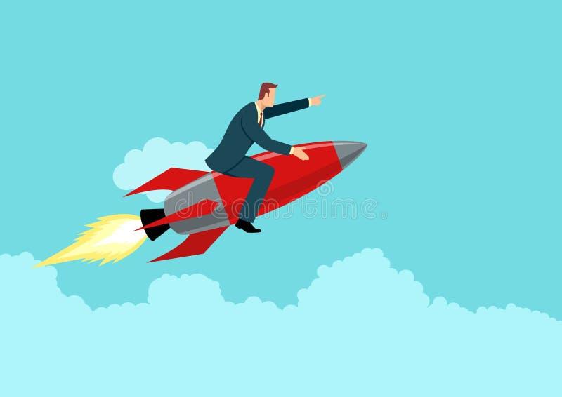 Homme d'affaires à la roquette illustration libre de droits