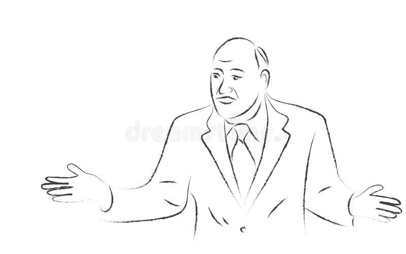 Homme d'affaires à une perte illustration de vecteur