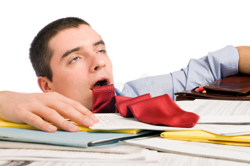 Homme d'affaires épuisé photo libre de droits